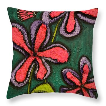 Flowers 4 Sydney Throw Pillow by Shawn Marlow