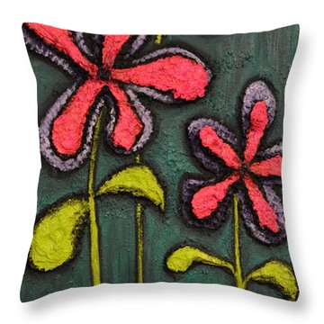 Flowers For Sydney Throw Pillow by Shawn Marlow
