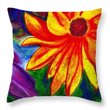 Flowers I Throw Pillow by Carla Sa Fernandes