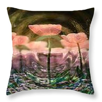 Flowers In Heat Throw Pillow by PainterArtist FIN