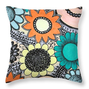 Flowers Paradise Throw Pillow by Home Art