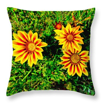 Flowers Thousand Trails  Throw Pillow by Bob and Nadine Johnston