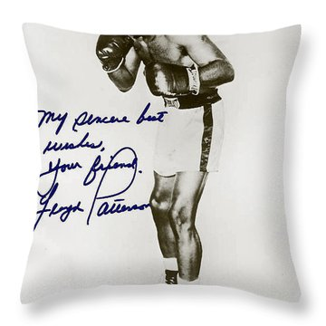 Floyd Paterson Throw Pillow by Studio Artist