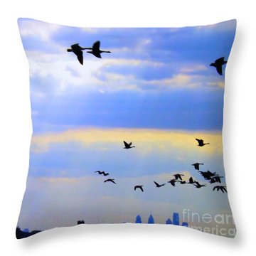 Fly Like The Wind Throw Pillow by Robyn King