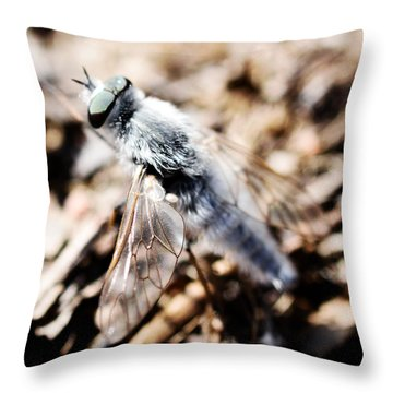 Fly Throw Pillow by Toppart Sweden