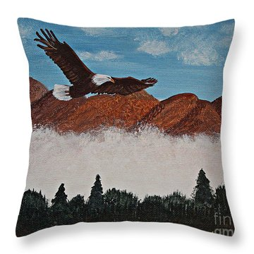 Flying High Throw Pillow by Barbara Griffin