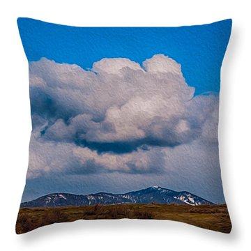 Flying Rain Spirit Throw Pillow by Omaste Witkowski