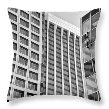 Flying Solo Throw Pillow by Trever Miller