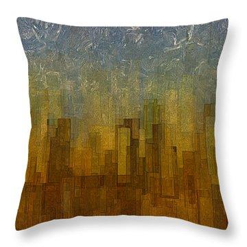 Fog Over Midtown Throw Pillow by Jack Zulli