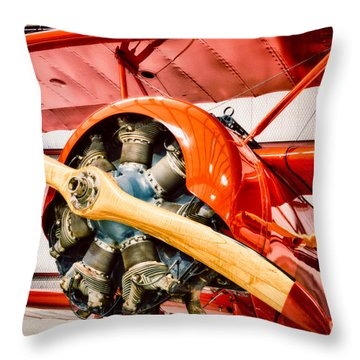 Fokker Dr.1 Throw Pillow by Inge Johnsson