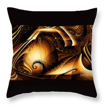 Folds In Time Throw Pillow by Peter R Nicholls