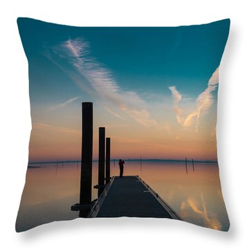Throw Pillow featuring the photograph Follow Me by Thierry Bouriat