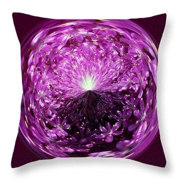 Follow The Light Throw Pillow by Cynthia Guinn