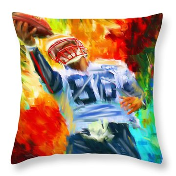 Football II Throw Pillow by Lourry Legarde