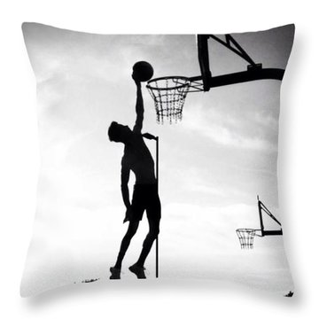 For The Love Of Basketball  Throw Pillow by Lisa Piper Menkin Stegeman