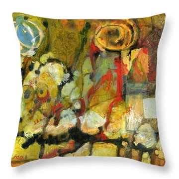 For Your Eyes Only Abstract Art Throw Pillow by Blenda Studio