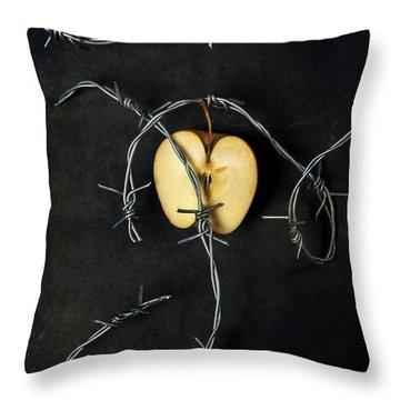 Forbidden Fruit Throw Pillow by Joana Kruse