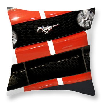 Ford Mustang - This Pony Is Always In Style Throw Pillow by Christine Till