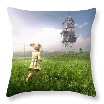 Foreclosure Throw Pillow by Cynthia Decker