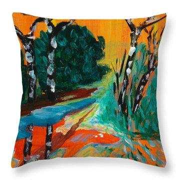 Forest Path Miniature Throw Pillow by Lidija Ivanek - SiLa