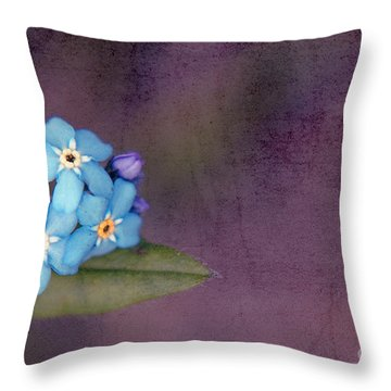 Forget Me Not 02 - S0304bt02b Throw Pillow by Variance Collections