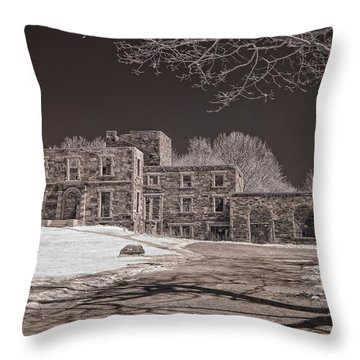 Forgotten Fort Williams Throw Pillow by Joann Vitali