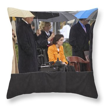 Former Us President Bill Clinton Throw Pillow by Panoramic Images