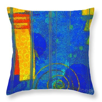 Formes - A0201blylgr Throw Pillow by Variance Collections