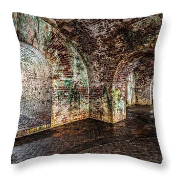 Fort Pike Throw Pillow by Andy Crawford