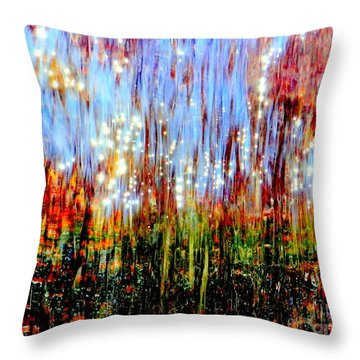 Water Fountain Abstract 3 Throw Pillow by Ed Weidman