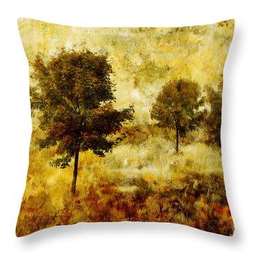 Four Trees Throw Pillow by John Edwards