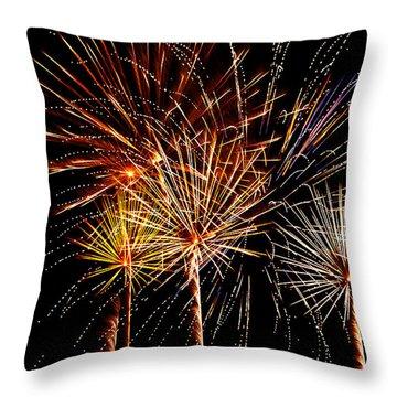 Fourth Of July Fireworks  Throw Pillow by Saija  Lehtonen