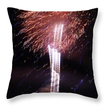 Fourth Of July Grand Lake Co 2007 Throw Pillow by Jacqueline Russell