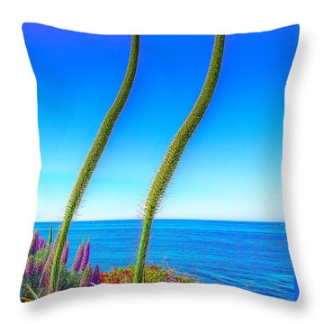 Foxtails On The Pacific Throw Pillow by Jim Carrell