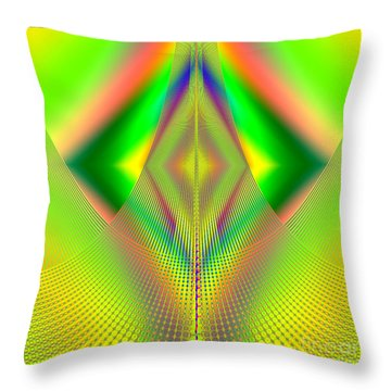 Fractal 32 Up Up And Away Throw Pillow by Rose Santuci-Sofranko