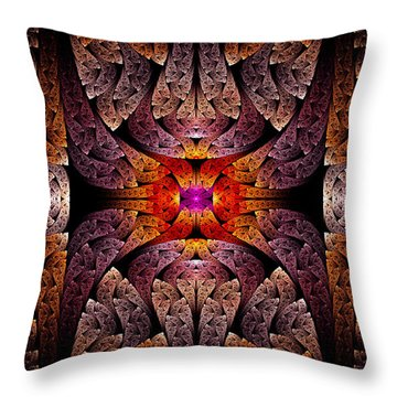 Fractal - Aztec - The Aztecs Throw Pillow by Mike Savad