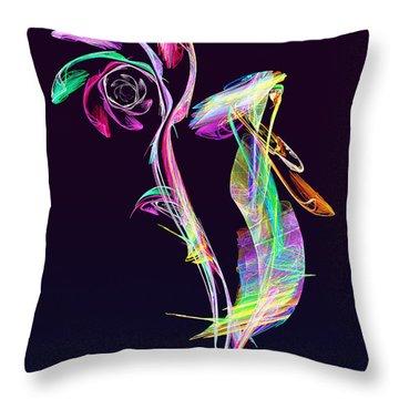 Fractal - Cockatoo Throw Pillow by Susan Savad
