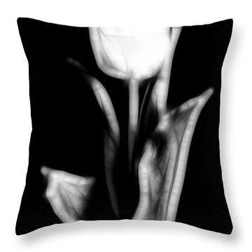 Fractal Tulip Throw Pillow by Sebastian Musial