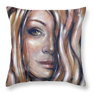 Fragile Smiles 230509 Throw Pillow by Selena Boron