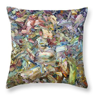 Roadside Fragmentation Throw Pillow by James W Johnson