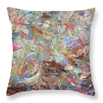 Fragmented Hill Throw Pillow by James W Johnson
