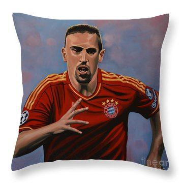 Franck Ribery Throw Pillow by Paul Meijering