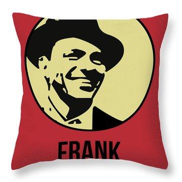 Frank Poster 2 Throw Pillow by Naxart Studio