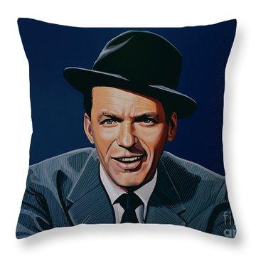 Frank Sinatra Throw Pillow by Paul Meijering
