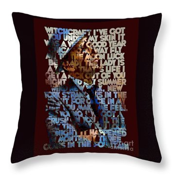 Frank Sinatra - The Songs Throw Pillow by Spencer McKain