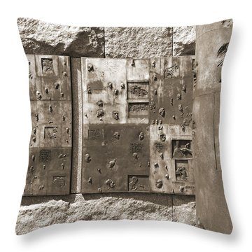 Franklin Delano Roosevelt Memorial - Bits And Pieces 2 Throw Pillow by Mike McGlothlen