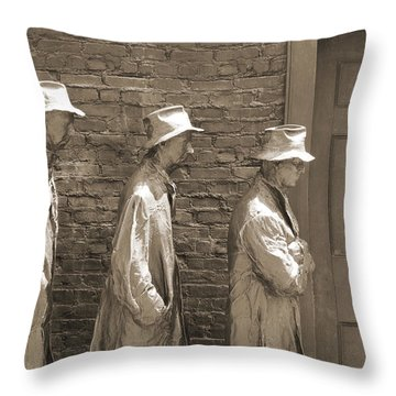 Franklin Delano Roosevelt Memorial - Bits And Pieces1 Throw Pillow by Mike McGlothlen
