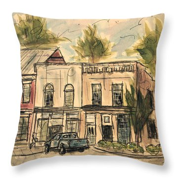 Franklin Facelift Throw Pillow by Tim Ross