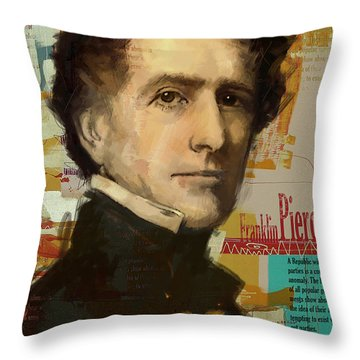 Franklin Pierce Throw Pillow by Corporate Art Task Force