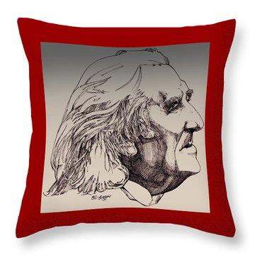 Franz Liszt Throw Pillow by Derrick Higgins